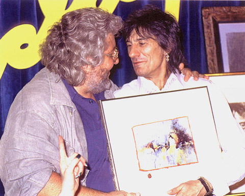 Ronnie Wood Painting Of Mick Jagger