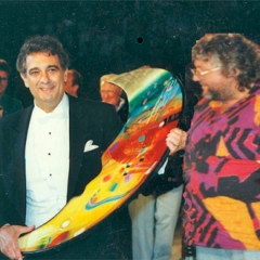 placido domingo, received this work of svetnik as a present